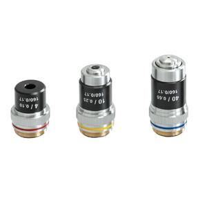 Kern Microscopio Bino Achromat 4/10/40, WF10x18, 0,5W LED, OBS 114