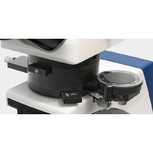 Kern Microscopio OPM 181, POL, trino, Inf plan, 40x-400x, Duchlicht, HAL, 20W