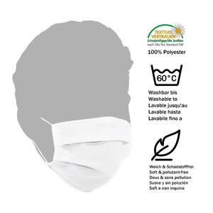 Masketo Mund- und Nasenmaske Polyester weiß für Kinder