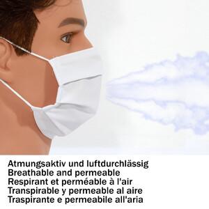 Masketo Mascherina naso/bocca bianche in poliestere per bambini