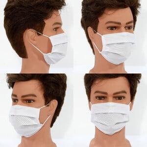 Masketo Mascherina naso/bocca bianca in poliestere