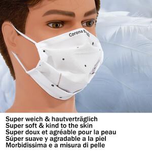 Masketo Mascherina naso/bocca in poliestere Corona Borealis 5 pezzi