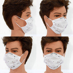 Masketo Mascarilla para boca y nariz de poliéster Corona Borealis