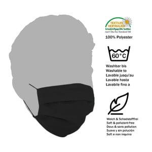 Masketo Mascherina naso/bocca nera in poliestere