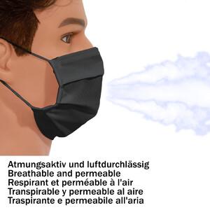 Masketo Mascarilla para boca y nariz de poliéster en negro para niños