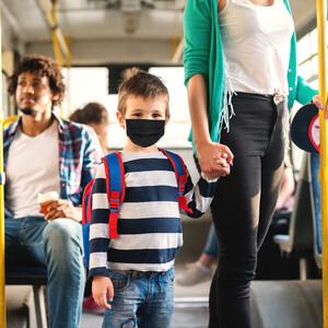 Masketo Mascherina naso/bocca nera in poliestere per bambini