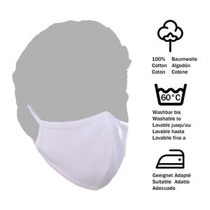 MYONE Mascherina naso/bocca bianca taglia L 1 pezzo