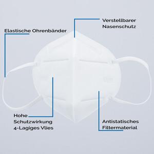 Mascarilla protectora para boca KN95, 10 unidades