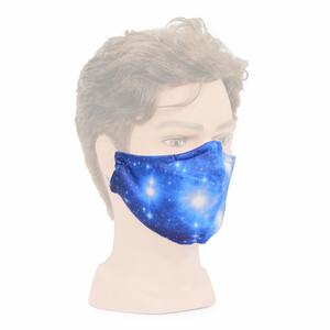 """Masketo mascherina naso/bocca bianca con motivo astronomico """"Pleiadi"""" 1 pezzo"""