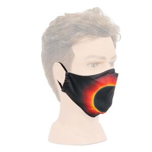 Masketo mascherina naso/bocca con motivo astronomico Corona Solare 1 pezzo