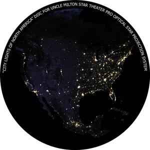 Omegon Disco para Star Theater Pro com vista da América à noite