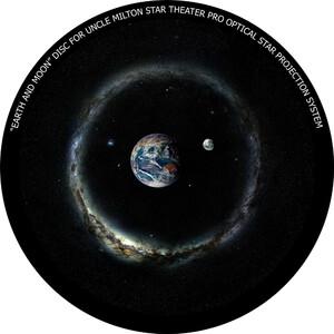 Omegon Disco para Star Theater Pro com imagem da Terra e Lua