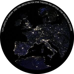 Omegon Disco para o Star Theater Pro com imagem noturna da Europa