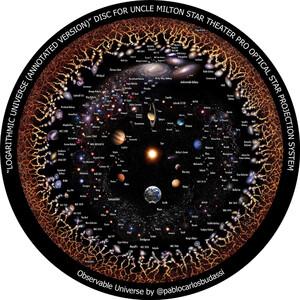 Omegon Dia für das Star Theater Pro mit Motiv Kosmologie