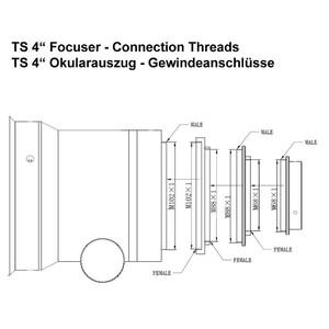 TS Optics Apochromatic refractor AP 140/910 ED Triplet Photoline