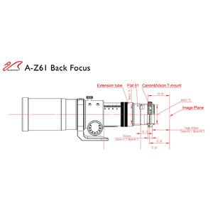 William Optics Apochromatischer Refraktor AP 61/360 ZenithStar ZS61 II OTA