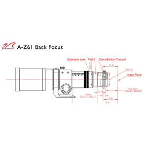 William Optics Refrator apocromático AP 61/360 ZenithStar ZS61 II OTA