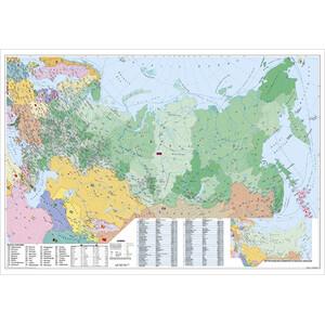 Stiefel Landkarte Russland und Osteuropa politisch mit Postleitzahlen