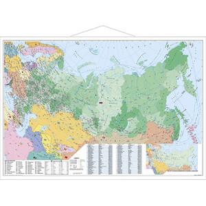 Stiefel Map Russland und Osteuropa politisch mit Postleitzahlen