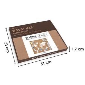 Miss Wood Mappa del Mondo Puzzle Map XL - White