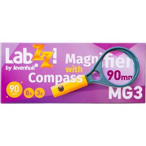 Levenhuk Lente d`Ingrandimento LabZZ MG3 Lupe mit Kompass