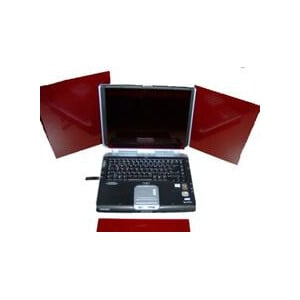 TS Optics Red acryl glass pane for Notebook and PC 215x140mm