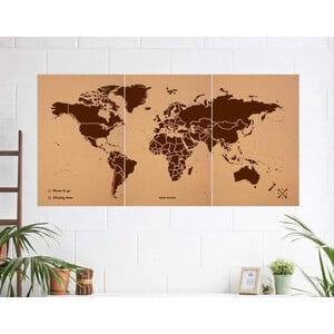 Miss Wood Mappa del Mondo Woody Map Natural Cork XXXL brown