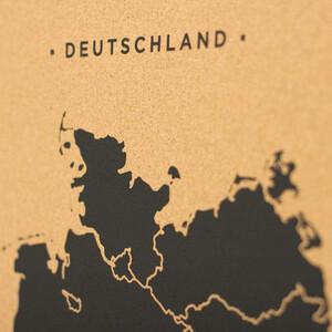 Miss Wood Mappa Woody Map Countries Deutschland Cork L black