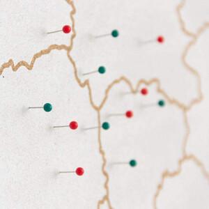 Miss Wood Mappa Woody Map Countries Deutschland Cork XL white