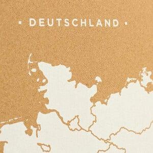 Miss Wood Mappa Woody Map Countries Deutschland Cork L white