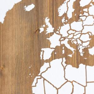 Miss Wood Mappa del Mondo Woody Map Wooden 120x60