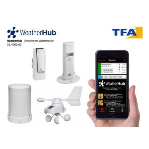 TFA Wetterstation-Set mit Klima, Regen & Windsender WEATHERHUB