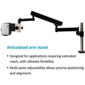 """Vision Engineering Microscopio EVO Cam II, ECO2CE1, variable articulated arm, LED light, 4 Diopt W.D.245mm, HDMI, USB3, 24"""" Full HD"""