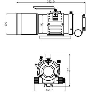 Lunette apochromatique TS Optics AP 76/342 EDPH Flatfield OTA