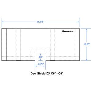 Celestron Cappuccio flessibile anticondensa DX SC6/SC8
