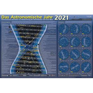 Astronomie-Verlag Poster Das Astronomische Jahr 2021