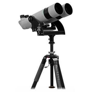 Omegon Os binóculos Brightsky 22x70 45° incluem montagem de garfo Neptune com coluna central e tripé