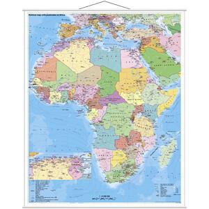 Stiefel Kontinent-Karte Afrika politisch mit PLZ