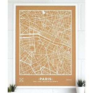 Miss Wood Woody Map Natural Paris XL White