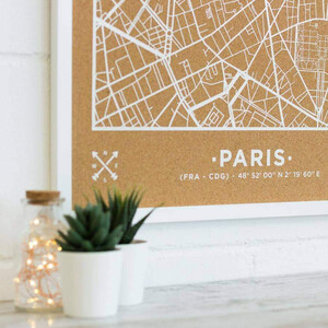 Miss Wood Woody Map Natural Paris XL White