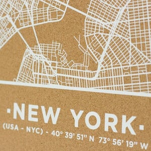 Miss Wood Mappa Regionale Woody Map Natural New York L White
