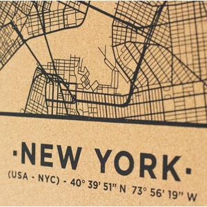 Miss Wood Mappa Regionale Woody Map Natural New York L Black