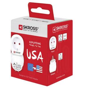 Skross Fuente energética Reiseadapter Europe to USA