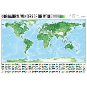 Marmota Maps World map 99 Natural Wonders (140x100)