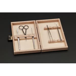 Windaus Attrezzi per microscopia: 5 strumenti in custodia di legno