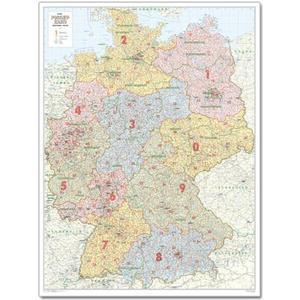 Bacher Verlag Landkarte Postleitzahlenkarte Deutschland groß