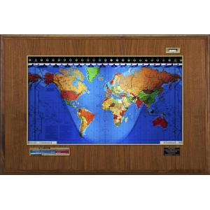 Geochron Boardroom Modell in Walnuß Echtholzfurnierausführung und goldfarbenen Zierleisten