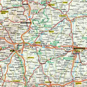Bacher Verlag Road map Germany 1:700000