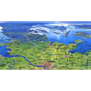 Bacher Verlag Map Original MAIR large panorama of Germany