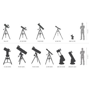 Skywatcher Telescopio Tubo ottico in acciaio N 250/1000 Quattro-10S